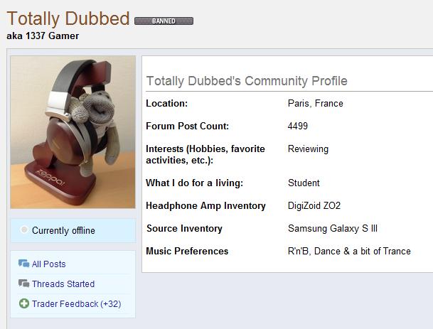 Head-fi profile page