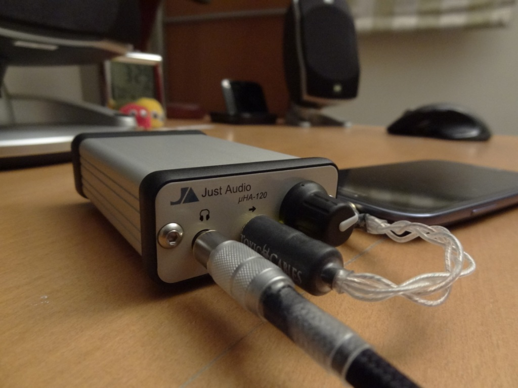 Just Audio µHA-120 - Connected to my SGS3