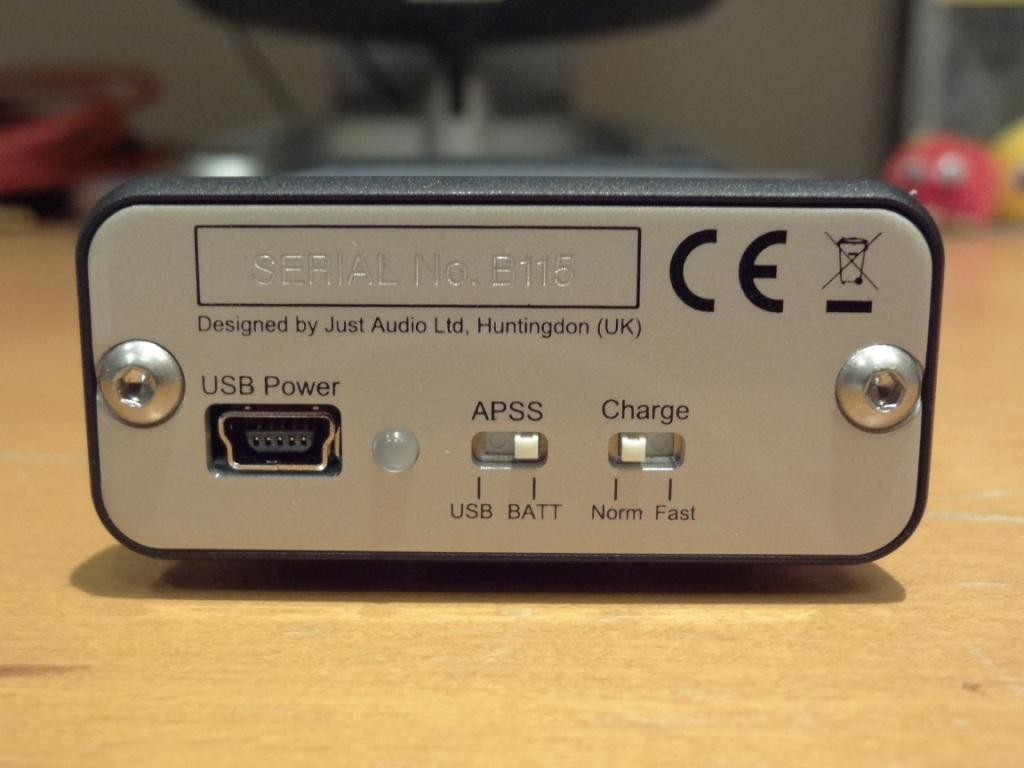 Just Audio µHA-120 - Back View