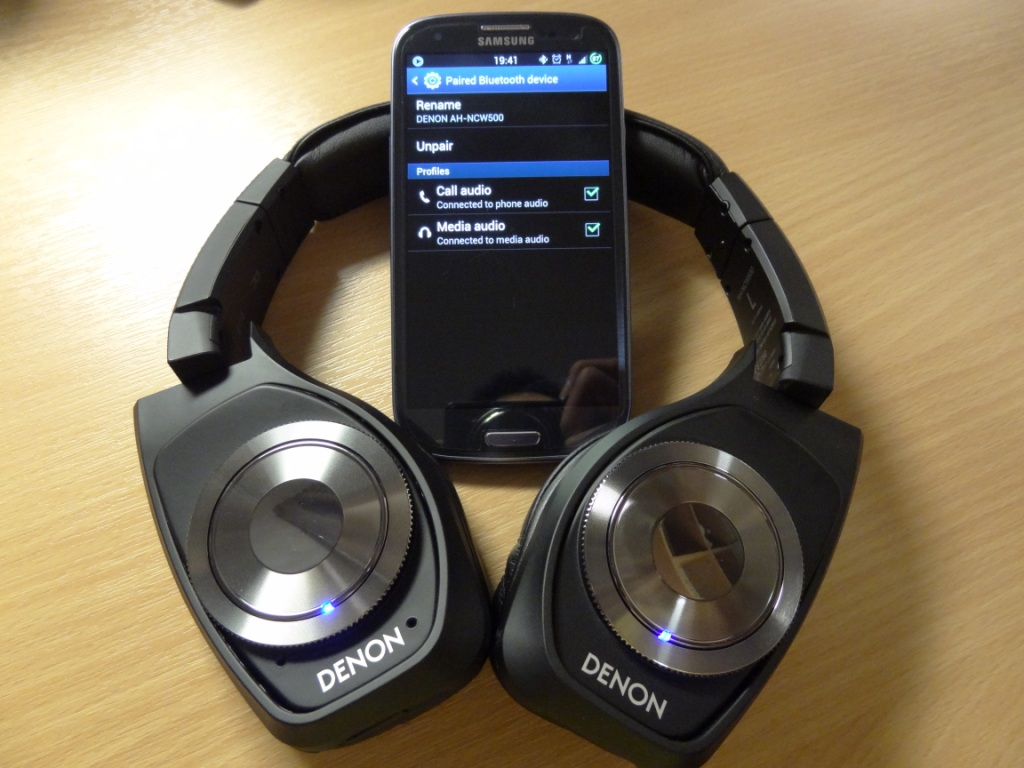 Denon AH-NCW500 - Paired with S3