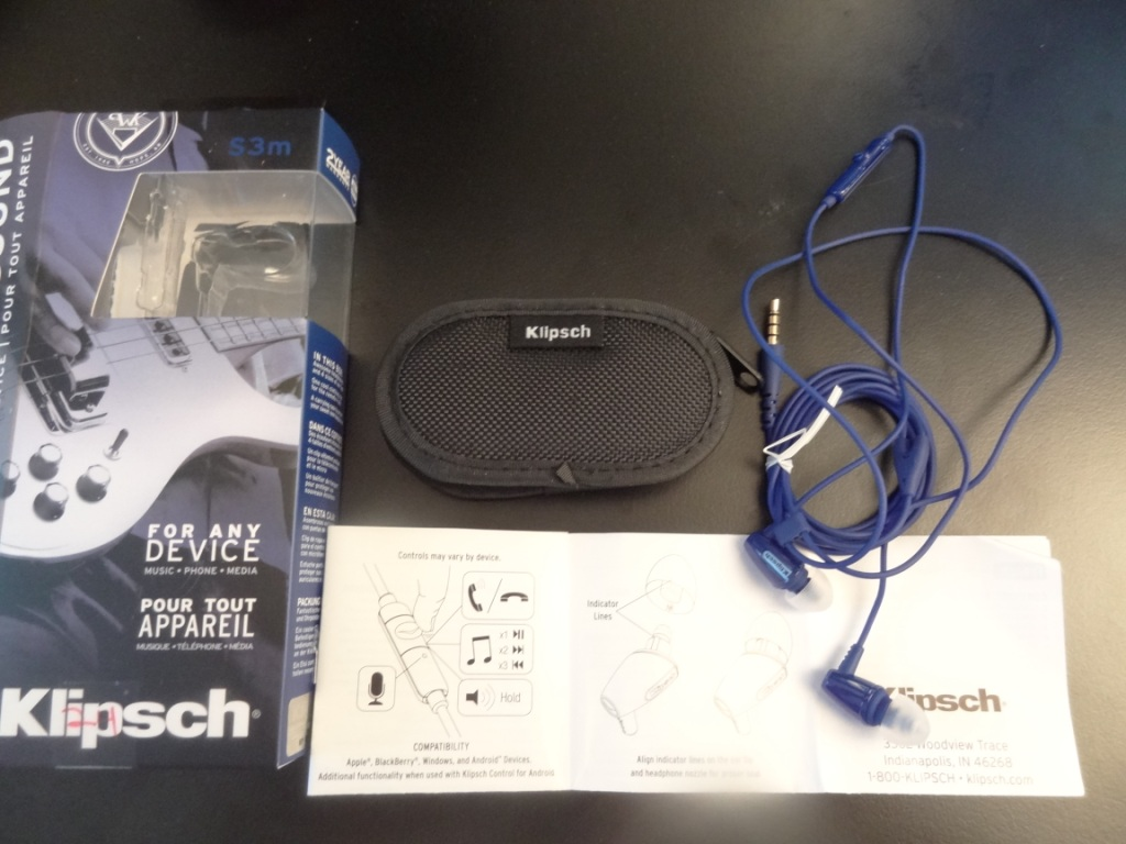 Klipsch S3M - Package Contents