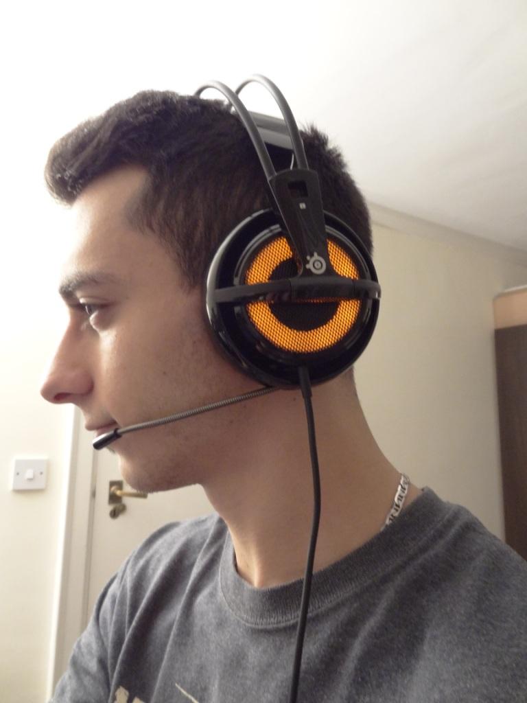 SteelSeries Siberia V2 Heat Orange Headset - Side