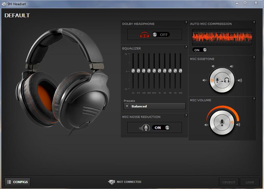 SteelSeries 9H Headset - Sofwater