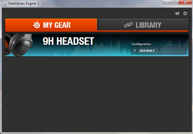 SteelSeries 9H Headset - Software