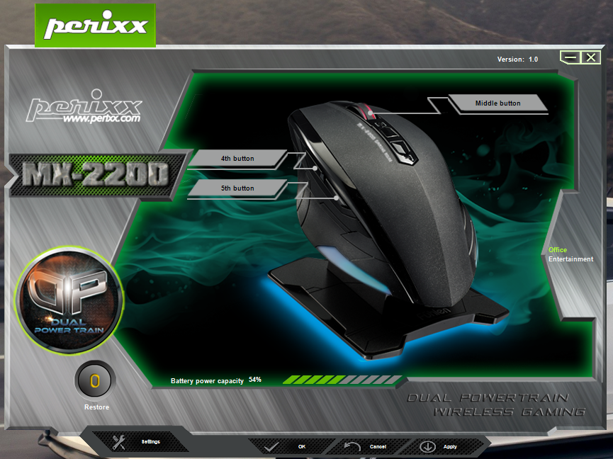 Perixx MX-2200 - Software
