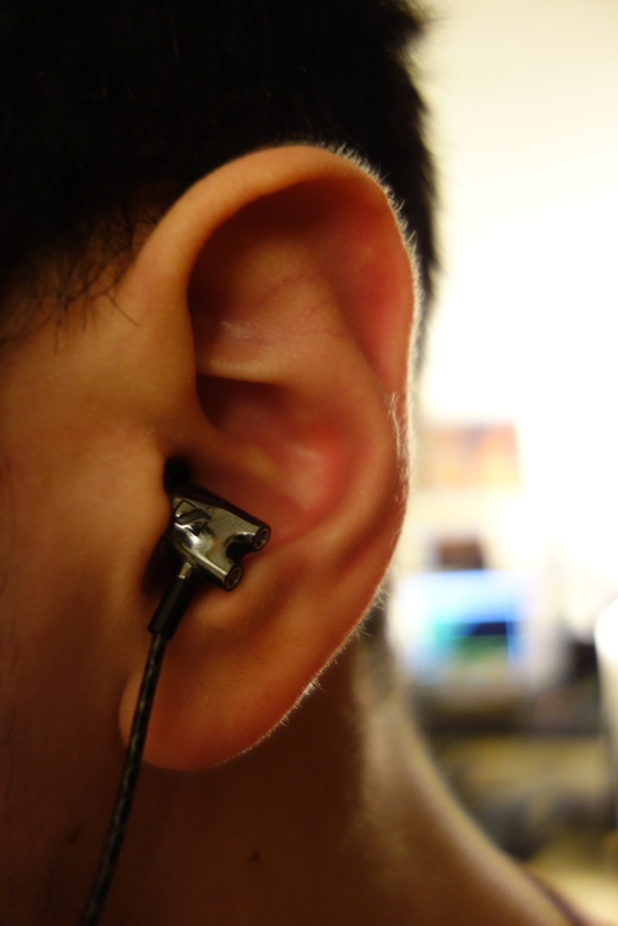 Sennheiser IE800 - In-ear straight down side