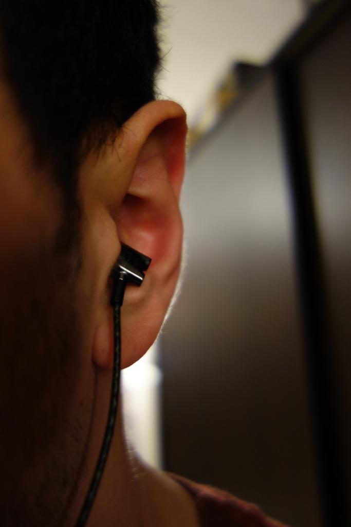 Sennheiser IE800 - In-ear straight down front