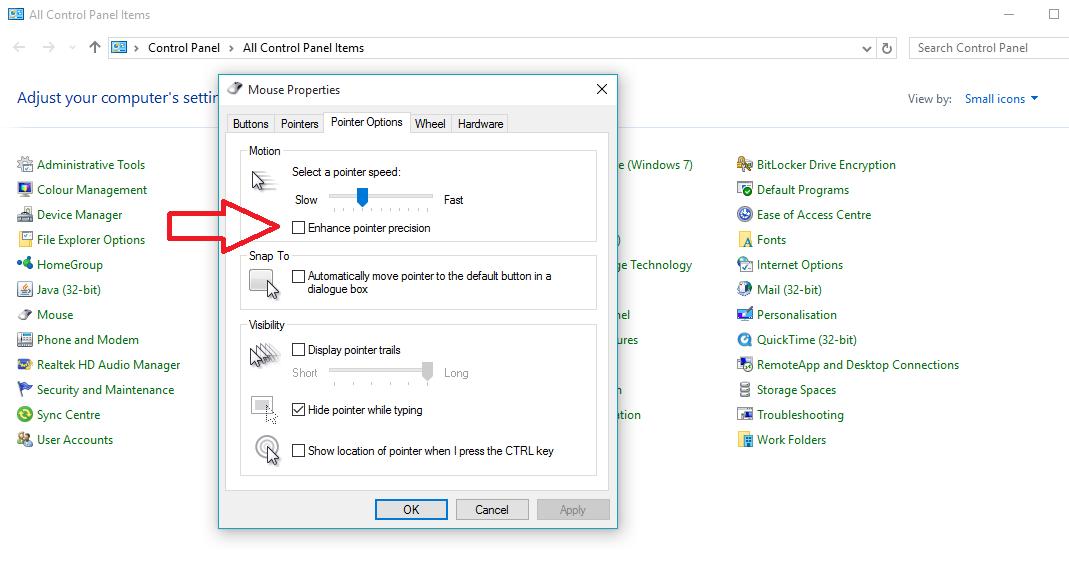 Logitech G303 Mouse - Windows Acceleration