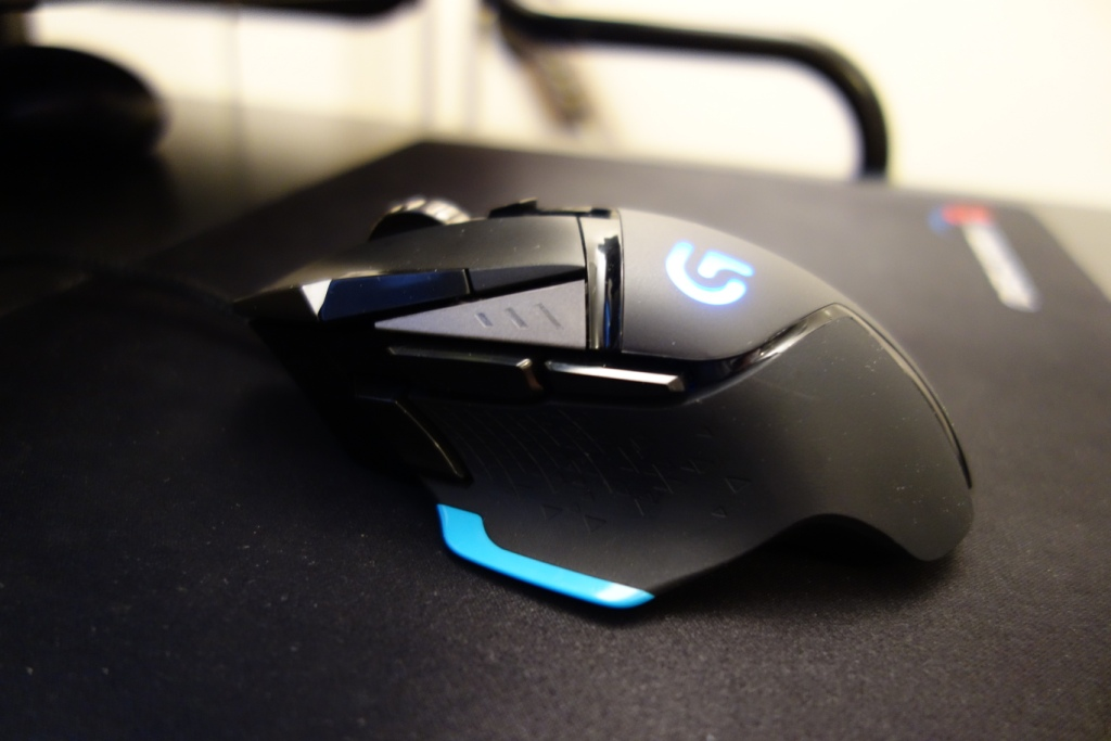 Logitech G502 Mouse - Side view
