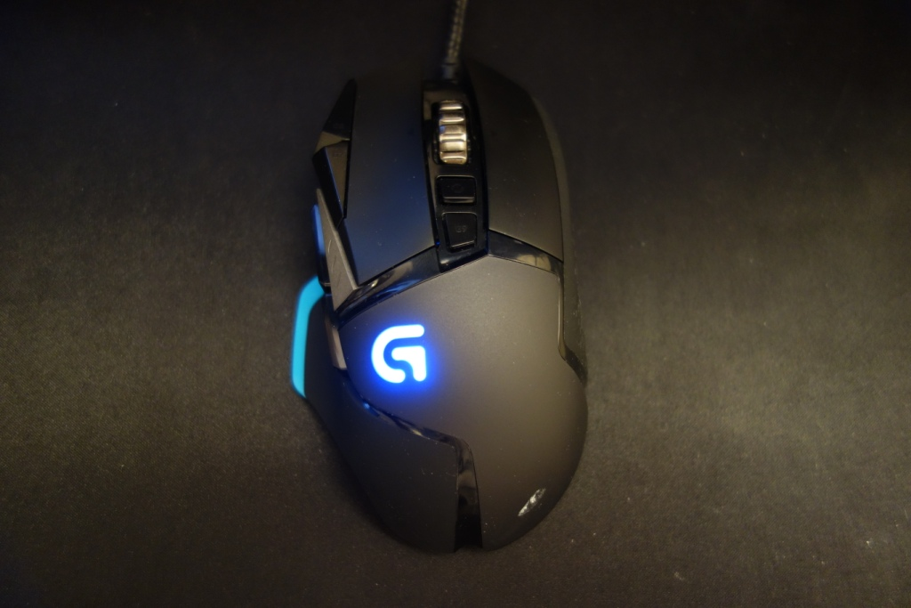 Logitech G502 Mouse - Top view