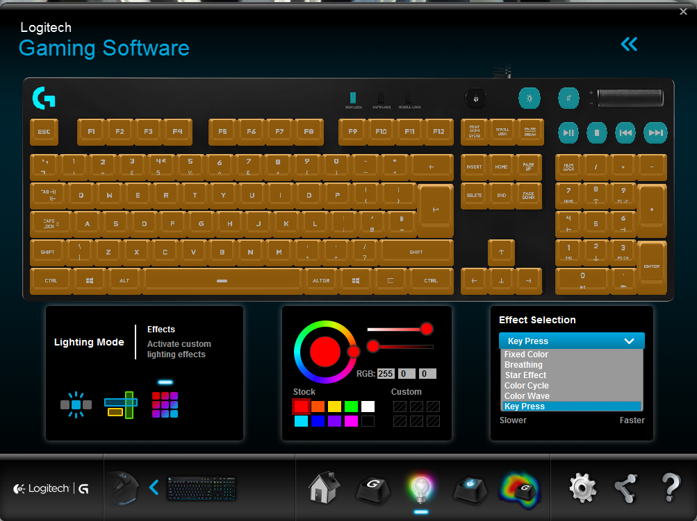 Logitech G810 Keyboard - Software Bug