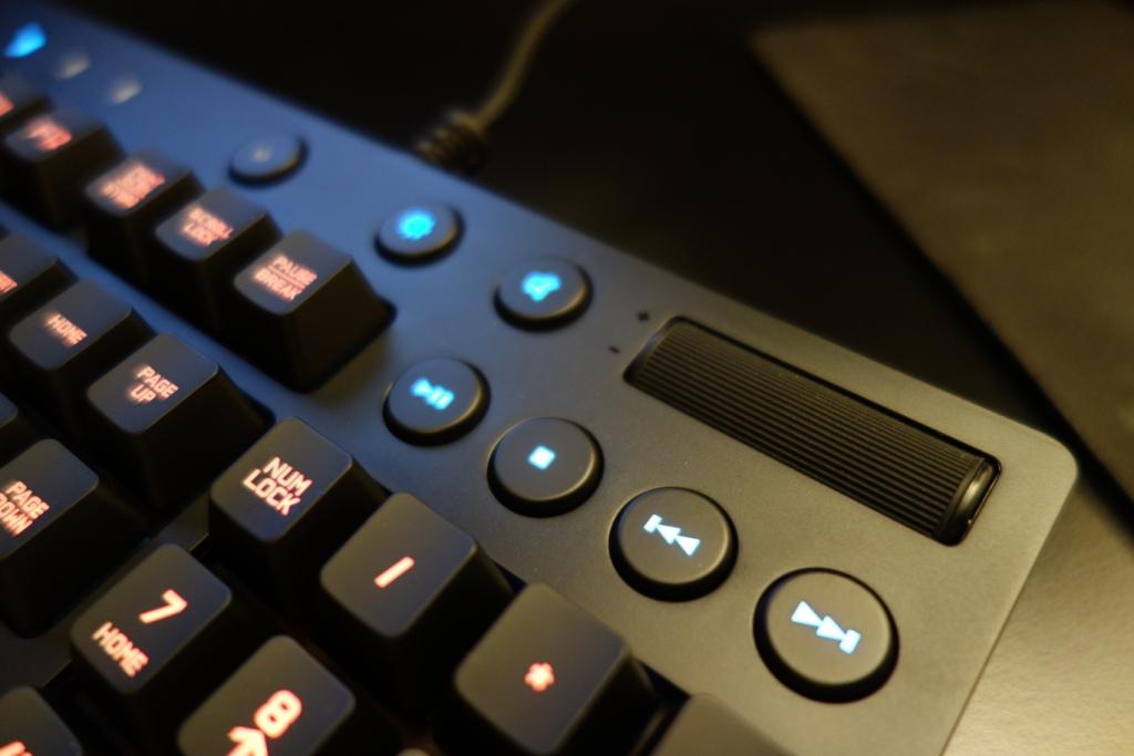 Logitech G810 Keyboard - Media keys