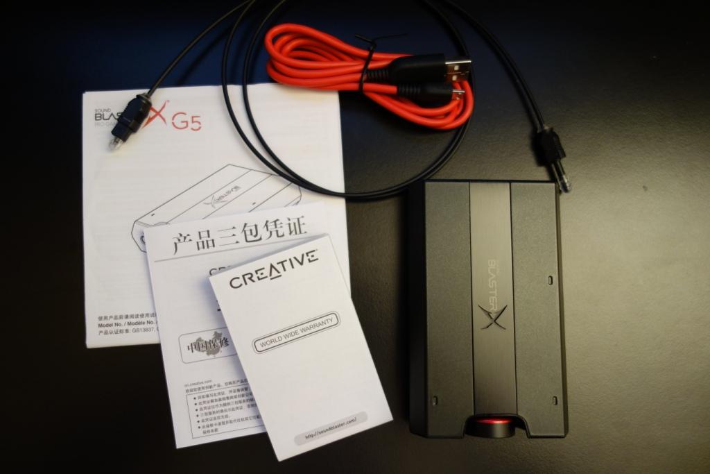 Sound BlasterX G5 - Contents