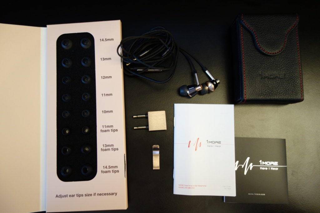 1More Triple Driver earphone review - Package contents