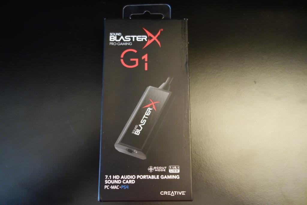 Creative Sound BlasterX G1 review - Box