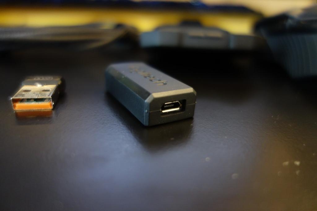 Logitech G900 Chaos Spectrum review - USB adaptor